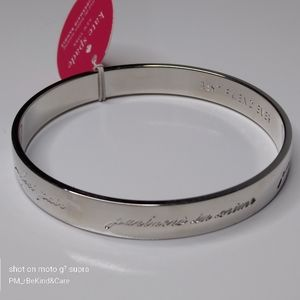 KATE SPADE - Silver Bride Idiom Bangle NWOT